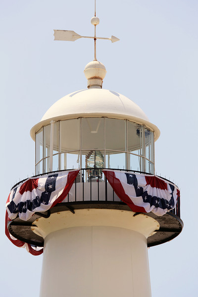 The Biloxi Lighthouse.   (Why did they cut a piece out of the Fresnel lens?)