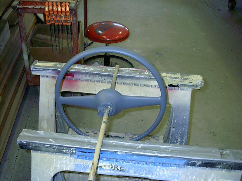 Back side of steering wheel.