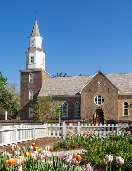 Bruton Parish Church in Colonial Williamsburg