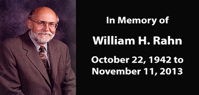 Mayor William H. Rahn - Memorial Photo and Video Album (October 22, 1942 - November 11, 2013)