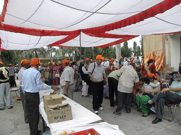 Sangat arrival to India 2015