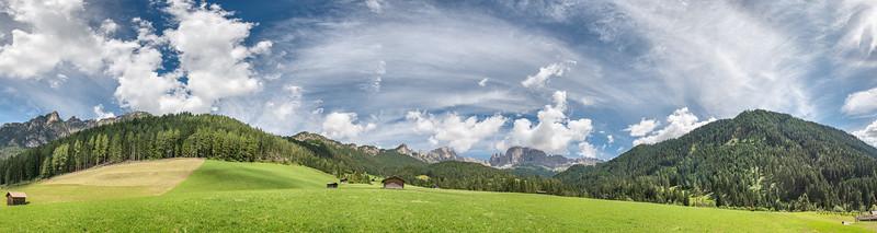 Tiersertal - St. Zyprian, Tiers, Bozen, Italy - July 4, 2020