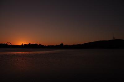 Sun set Canberra