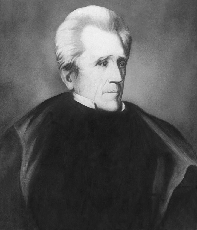 . Pres. Andrew Jackson shown in an undated portrait. (AP Photo)