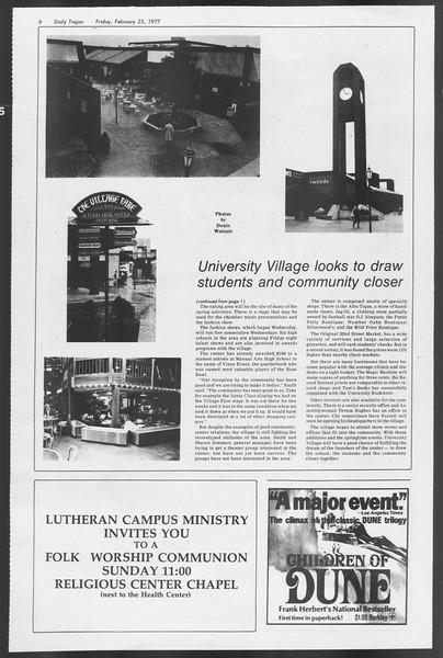 Daily Trojan, Vol. 71, No. 12, February 25, 1977