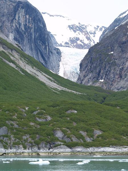 Hanging glacier inside Tracy Arm near South Sawyer Glacier