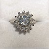 2.87ctw old European Cut Diamond Spray Ring GIA J SI1 8
