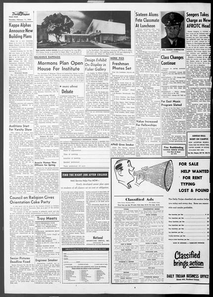 Daily Trojan, Vol. 45, No. 71, February 11, 1954