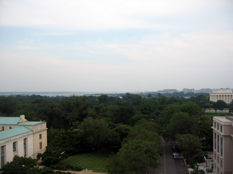 DC is surprisingly green from this vantage point