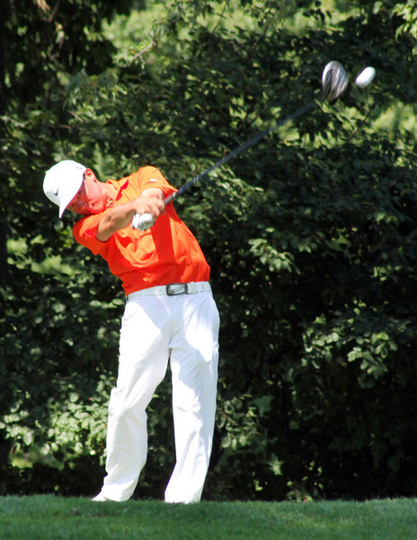 Lorens Chan of Honolulu, Hawaii sends a drive down the fairway in his opening match at the 2012 Western Amateur Championship at Exmoor Country Club in Highland Park, IL on Friday, Aug. 3, 2012. (WGA Photo/Ian Yelton)