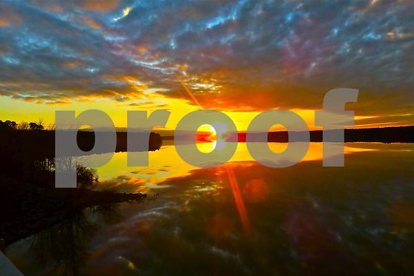 Sunset at Jordan Lake