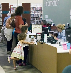 Chapel Hill Public Library--Opening Day at the Mall