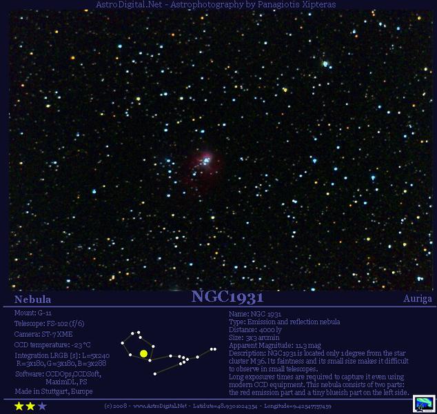 NGC1931 in Auriga