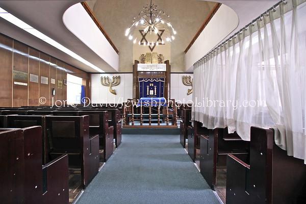 MEXICO, Mexico City. Agudas Ajim Synagogue, a.k.a Sinagoga de Avenida Parral. (2009)