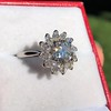 2.87ctw old European Cut Diamond Spray Ring GIA J SI1 16