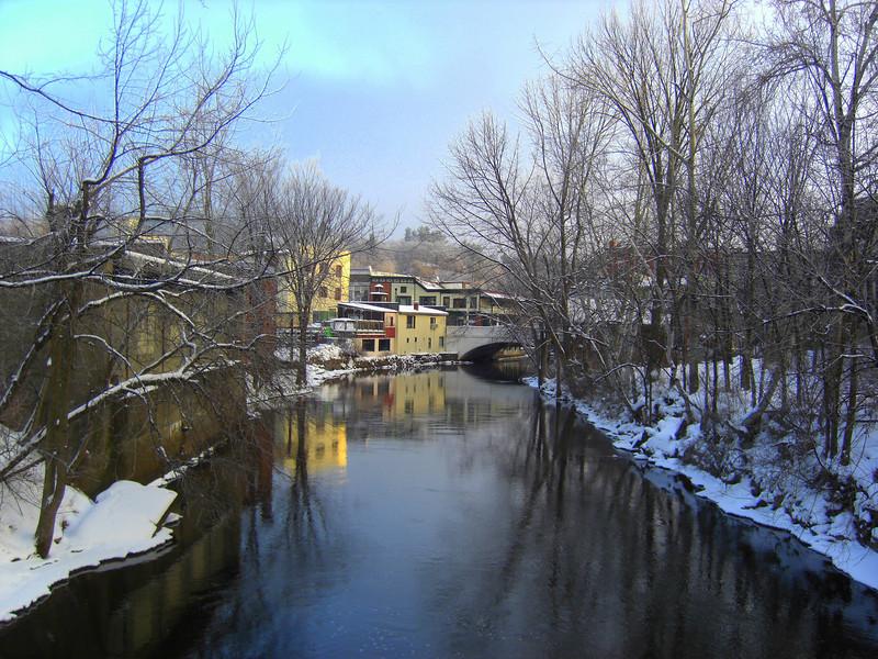 Saranac River, Christmas morning, 2009.CIMG0838.JPG