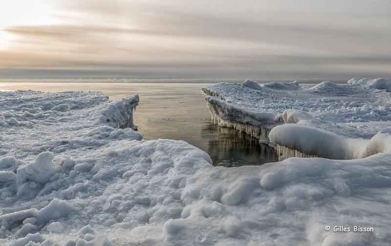 Ice formation, Presqu'ile Provincial Park, January 26,2015, Canon 6D, 24-105mm,.3sec,F22, ISO50