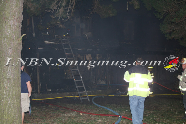 Brentwood F.D. Working Vacant House Fire 66 Patton Ave 10-17-11