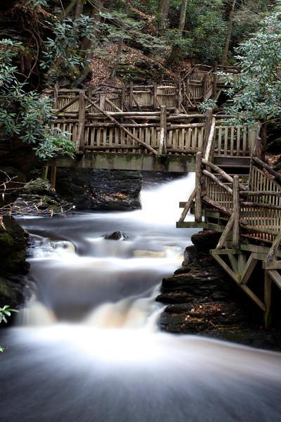 Bushkill Falls. Laurel Glen The Niagara of Pennsylvania