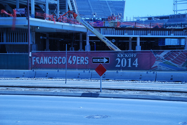 New 49ers stadium under construction