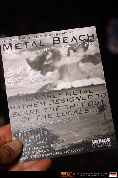 Aug. 20th Metal Beach Show at Trip.  Venison, Black Lotus and Divine Era