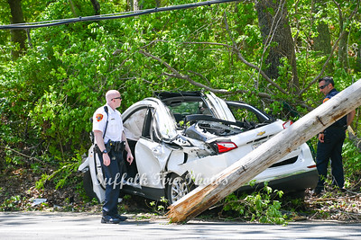 Car Vs. Pole With Ejection - River Rd, Shirley, NY - 5/20/21