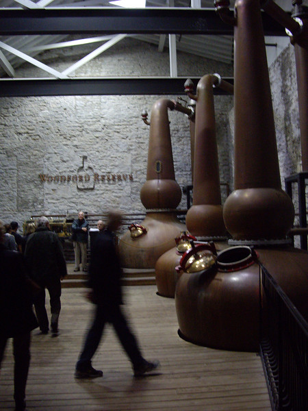 The three copper stills.