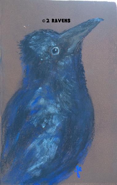 Raven pastel, SOLD