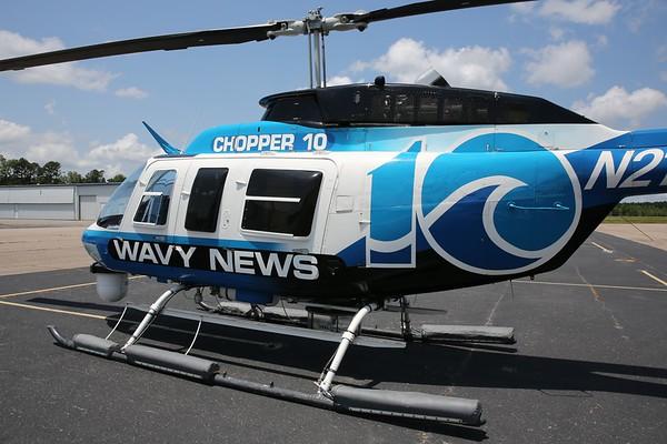 """WAVY-TV 1988 Bell 206L-3 """"Long Ranger"""", Norfolk, 13Jul18"""