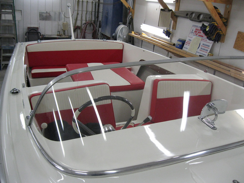 Front view of interior installed.