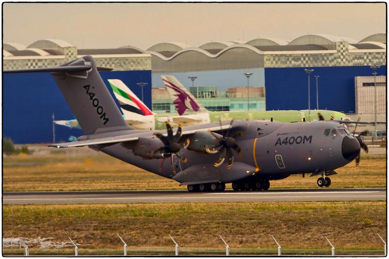 A400M Departs Toulouse