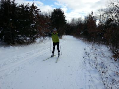 2013-01-01 New Years ski at Huron Meadows