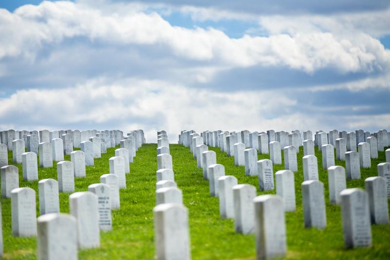 Tombstones JB Cemetery, St Louis