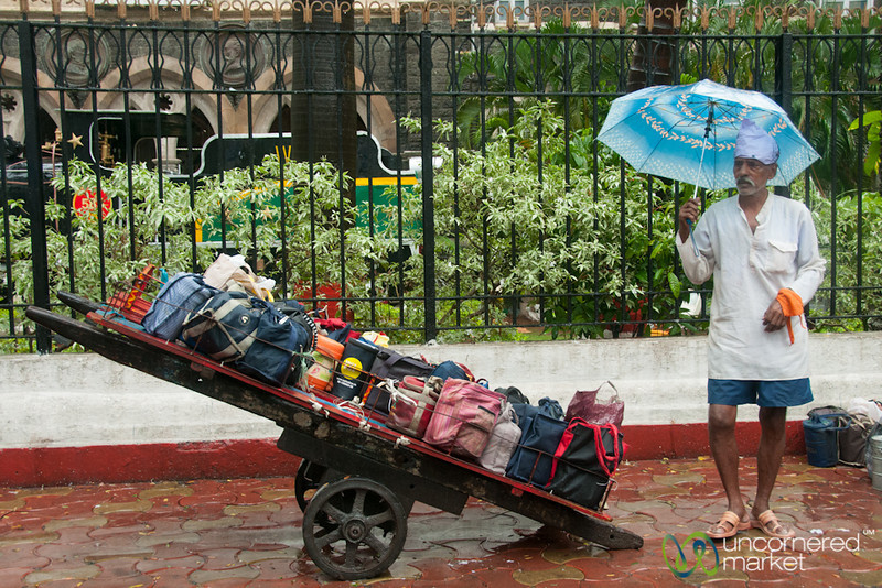 Dabbawala in Mumbai Monsoon - India