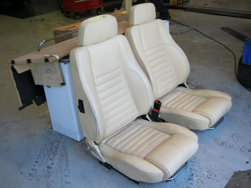 Original seats - worn, and damaged piping
