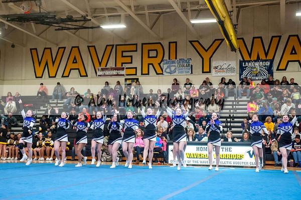 Cheer league meet at Waverly - Fowlerville