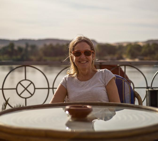 Celia navegando por el Nilo. Aswan