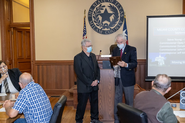 Milam County Commissioners Court 9-28-20