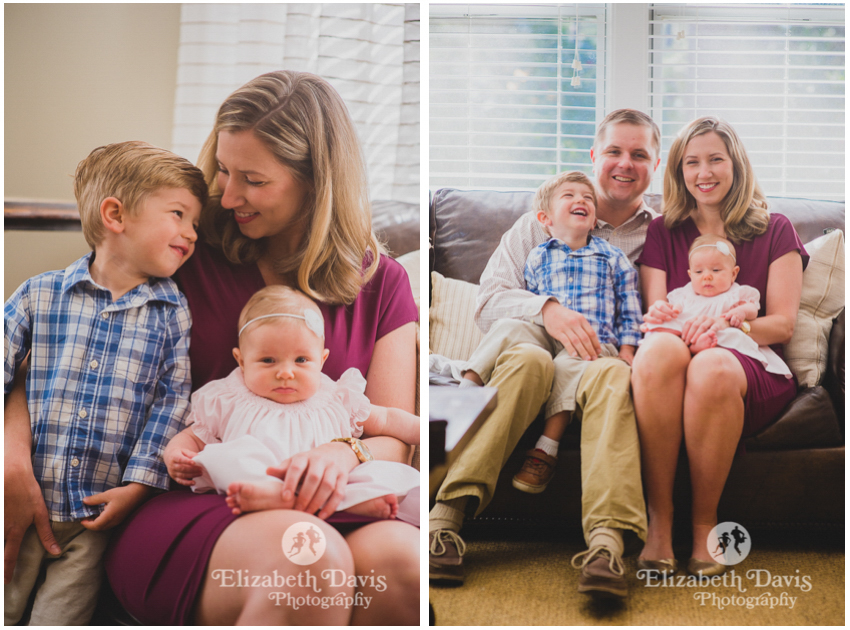 Family Photos Baby Plan Three Months | Tallahassee Florida natural candid family photos | Elizabeth Davis Photography