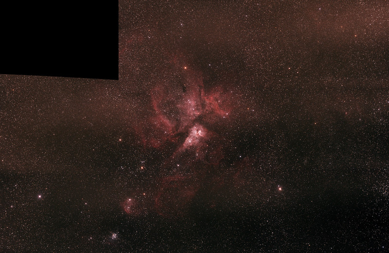 Caldwell 92 Eta Carinae Neblua - 19/2/2017 - 9 panel mosaic test