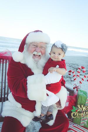 Bumgarner Family with Santa