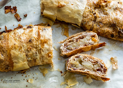 Apple Strudel with Honey, Raisins and Walnuts