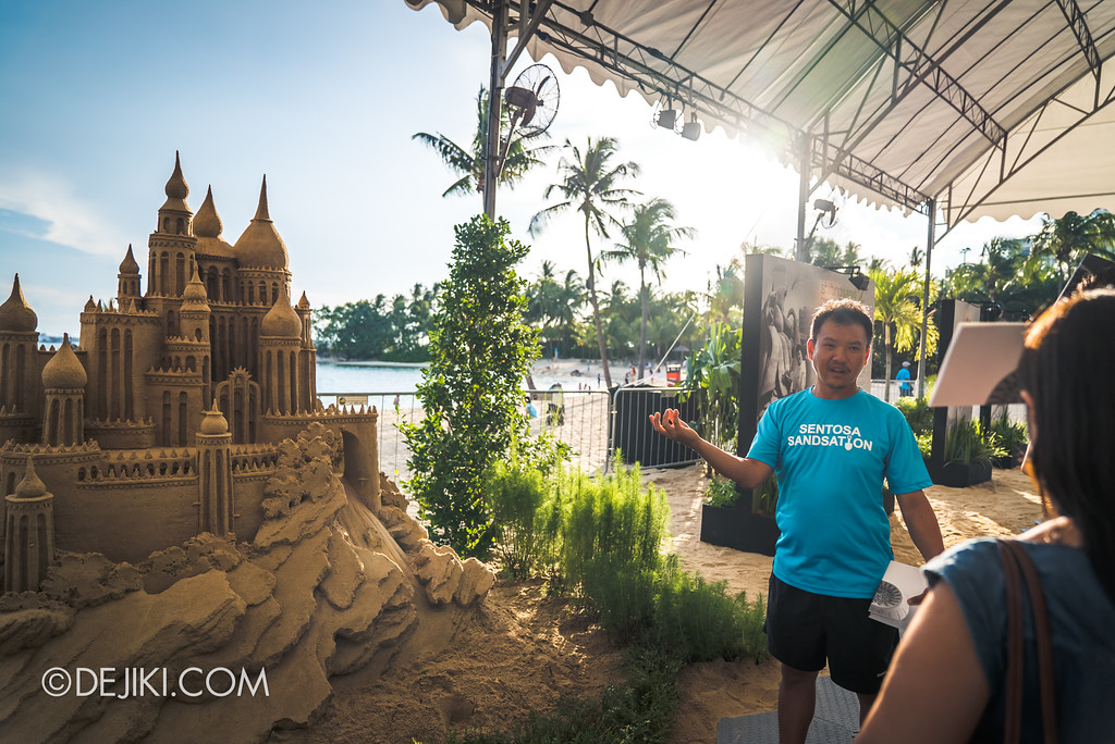 Sentosa Sandsation 2017 - Joo Heng Tan explains Sandcastle