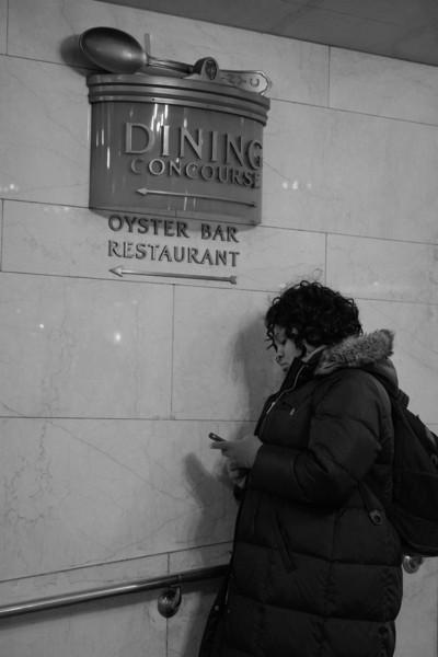 Texting at Grand Central
