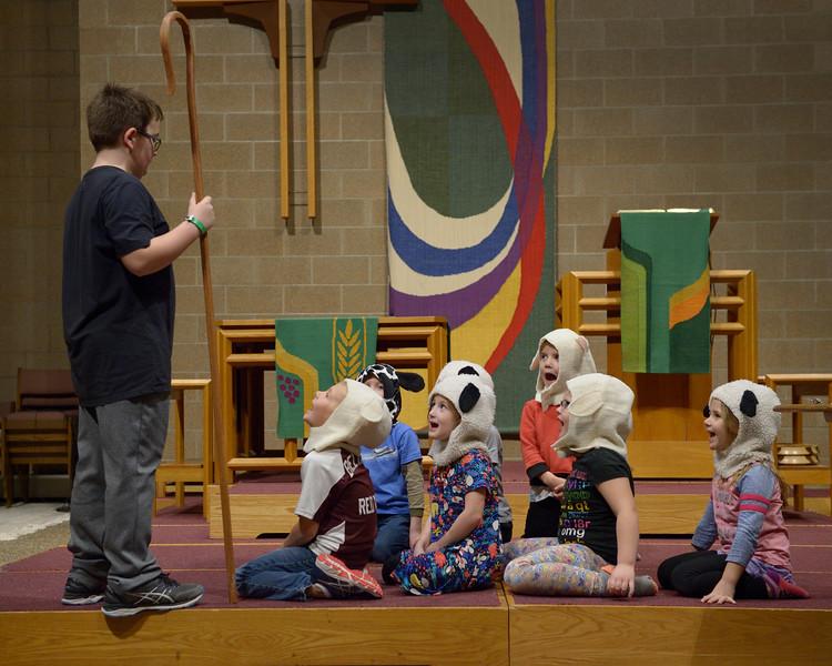 Christmas Program practice, 2018 November 14, Bethel Lutheran Church, Northfield, Minnesota USA