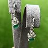 2.00ctw+ Emerald and Diamond Art Deco Conversion Earrings 24