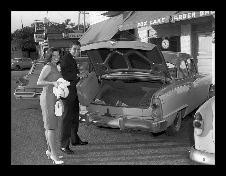 Leaving Fox Lake after Wedding - 1964.jpg
