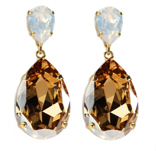 Perfect Drop Earrings / White Opal + Light Colorado Topaz