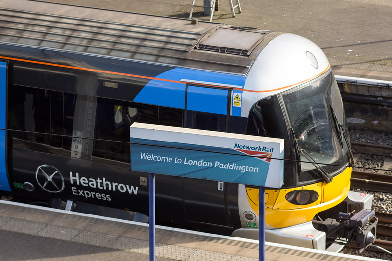 Heathrow Express at Paddington Station