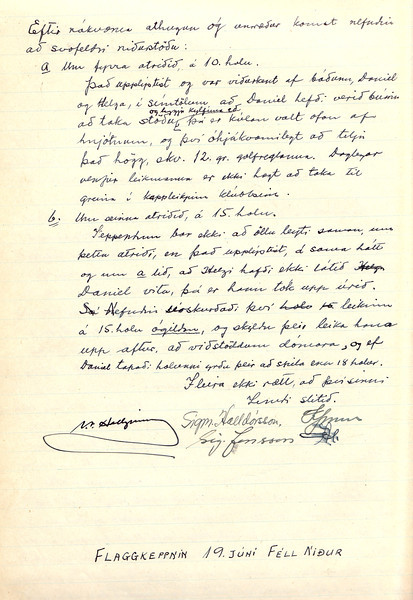 Fundir Kappleikjanefndar GÍ 1938
